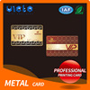 competitive price customized printing metal card With Factory Wholesale Price