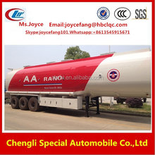 Clw Double Hull Oil Tanker,Fuel Semi Trailer,Aluminum Fuel Tanks With Bpw Axle