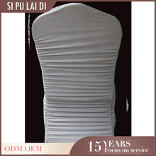 lycra spandex wholesale luxel hotel banquet cheap shirred design universal wedding white strech chair covers