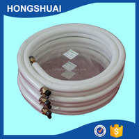 Air Conditioner Copper Aluminum tube Pipe with White Twin Insulation Pipe