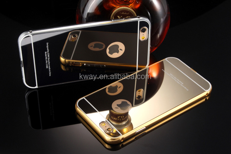 Mirror Aluminum Case For iPhone 7 plus Luxury Slim Acrylic Back Cover For iPhone 6 6s Plus 5 5S 5C SE Mobile Phone Capa Fundas