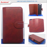 The Most Hot 5 Inch Genuine Leather Wallet Mobile Phone Case For Vivo y31 iphone 4 5 6 6s se