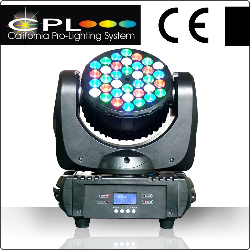 36x3W RGBW moving head wash Prism 36 3w led moving head