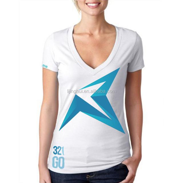 OEM service white cotton custom tshirt with printing