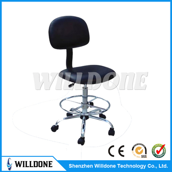 ESD chair with adjustable seat and back for Electronic Cleanroom Use