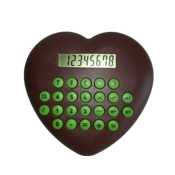 Christmas Gift Heart shape cute digital calculator 8 digits Pocket Calculator