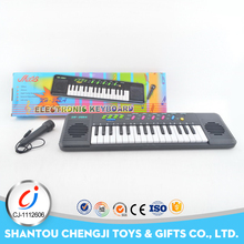 Funy plastic 32 keys piano electric musical keyboard with microphone