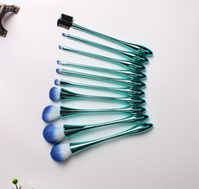 2017 terbaik profesional 9 pcs panjang PP menangani nylon makeup brush set