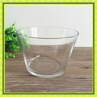 eco-friendly feature fruit salad glass bowl,clear glass container for vegetables,kitchenware