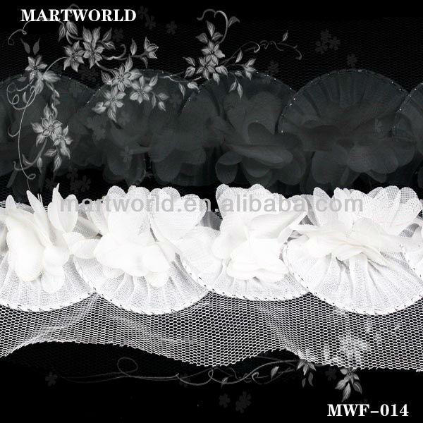 wedding bridal lace trim white lace trim(MWF-014)