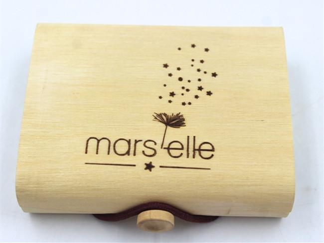 Birch veneer soft bark cylinder wooden packaging for wine bottle