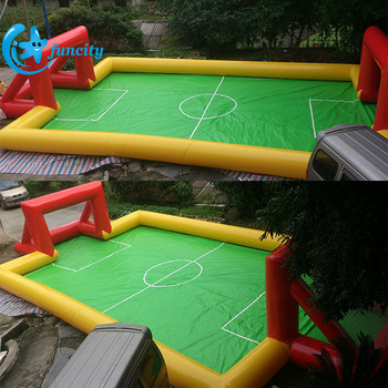 Outdoor Inflatable Soccer Field , Inflatable Football Pitch , Football Area for Entertainment