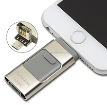 3 in 1 usb flash drives disk for iphone android phone