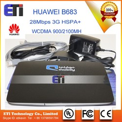 Original Unlocked Huawei B683 28Mbps 3G HSPA+ Wireless WIFI Gateway with DDNS function+SMA antennasupport WCDMA 900/2100MHz