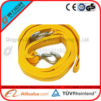 CE&GS approved of tow truck straps/elastic towing strap/towing belt for car