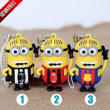 hot sale minion usb flash memory stick,1gb 2gb 4gb 8gb 16gb 32gb cartoon minion usb flash drive