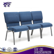 Wholesale Upholstered Stacking Metal Church Chair For Sale