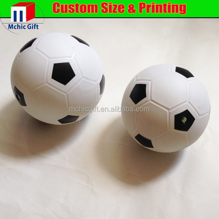 Custom color printed inflatable plastic mini pvc soccer ball