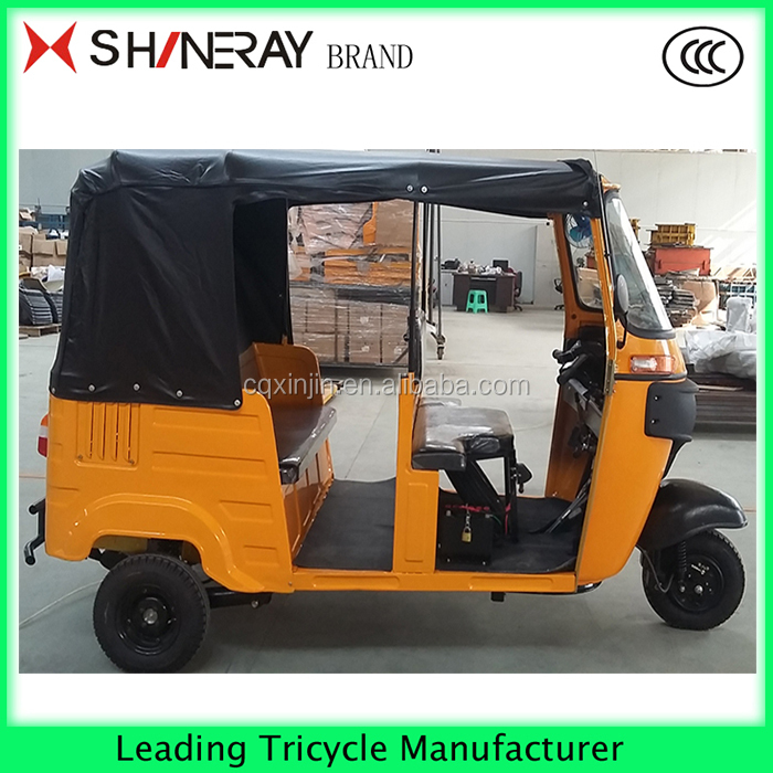 200CC three wheel motorcycle moto taxi tricycle to transport passenger with cabin for sale