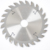 125*24T industrial grade conical scoring saw blade