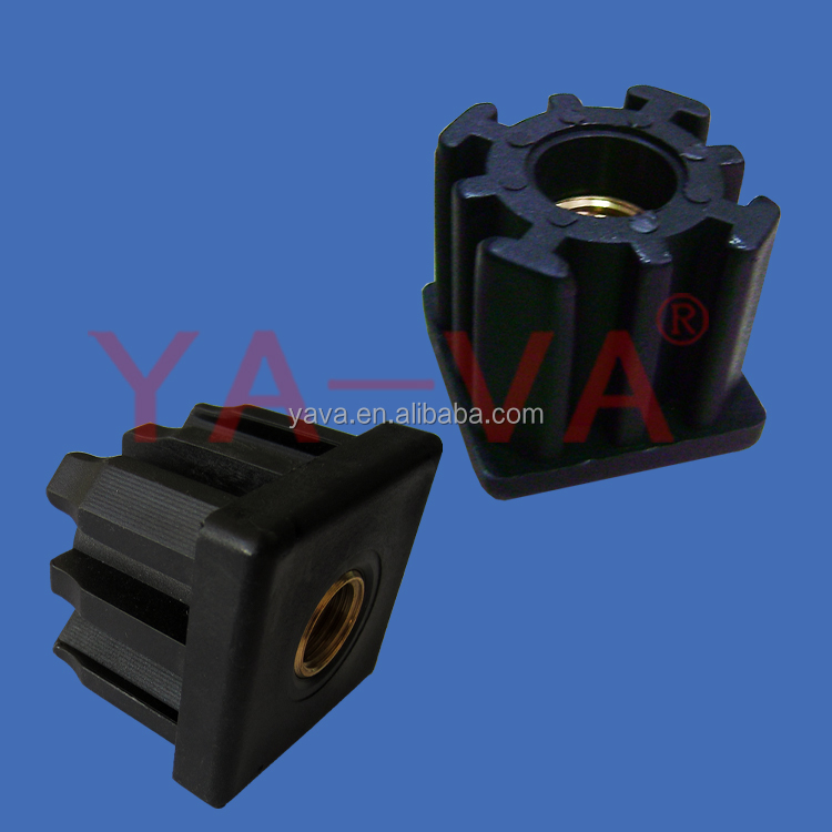 Conveyor Spare Parts Plastic Square Tube Ends