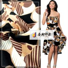 Manufacturer supplier online shopping colorful woven fabric animal print