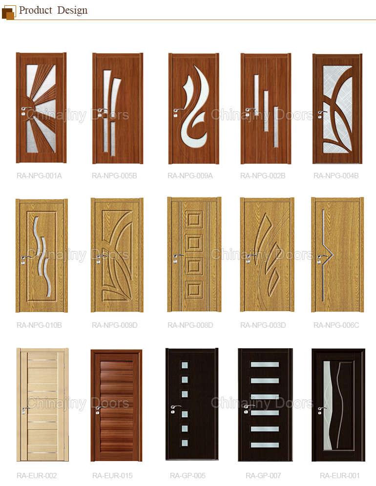 2017 sell well Iraq popular pvc sheet living room pvc wood door from Jiangshan city