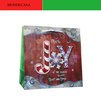 Printed logo christmas paper gift bag