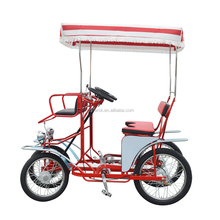 Pedal Quadricycle Surrey Sightseeing bike, Beach Cruiser Tour Family Four Person Bike