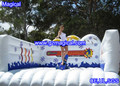 Inflatable snowboard game/simulated snowboard game