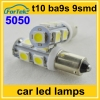 green led light source car interior lamps 5050 5smd/9smd T10 ba9s dc12v