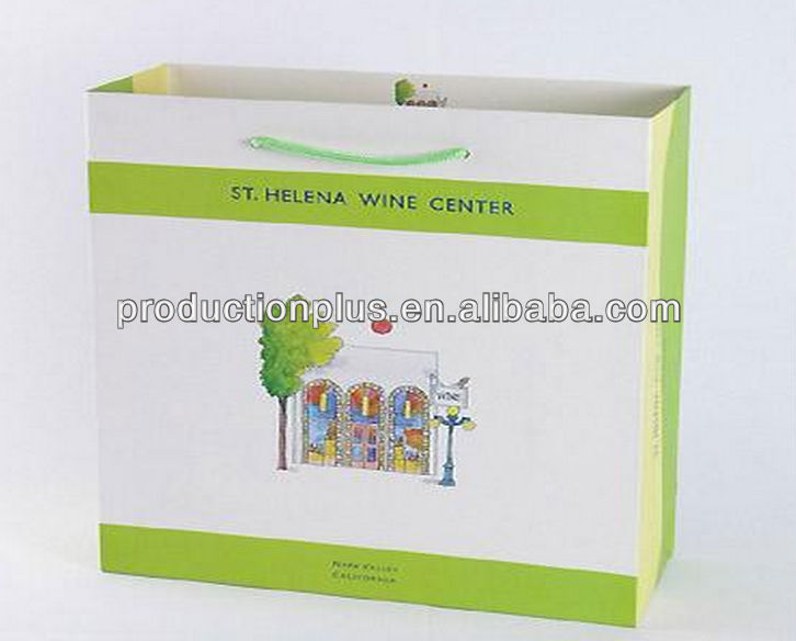 3-Bottle Wine Paper Bag