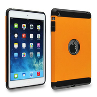 2 in 1Shockproof Plastic soft tpu rubber hybrid cover case for ipad mini 4 fundas slim armor capinha fund for ipad mini4