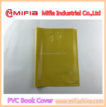 wholesale A4 pain color pvc plastic waterproof school exercise book cover protection