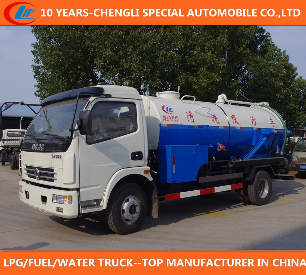 second hand sewage suction truck Dongfeng used sewage suction tanker truck