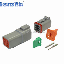 DT04-6P DT06-6S Sealed Automotive 14-16guage Terminals 6 Pin Deutsch Male Female Connectors