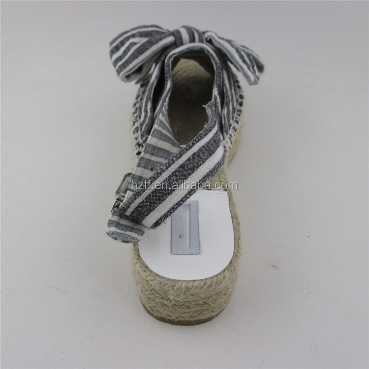 Modern style leather espadrilles soles wholesale shoe