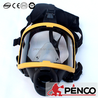 PENCO fire fighter gear rubber gas mask for spraying chemicals