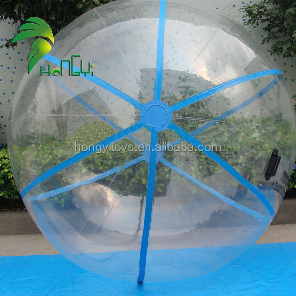 Custom PVC Clear Water Rolling Balloons , Inflatable Water Zorbing Walk on Water Plastic Ball