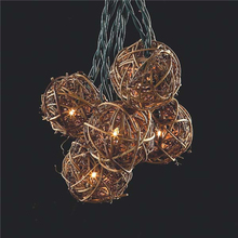 LIDORE LED BAMBOO BALL CHRISTMAS string Lights OUTDOOR