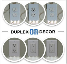 Duplex Or Decor Night Lamps LED nightlight Lighted Wall-outlet coverplate Lighted Outlet Cover Angel For Christmas