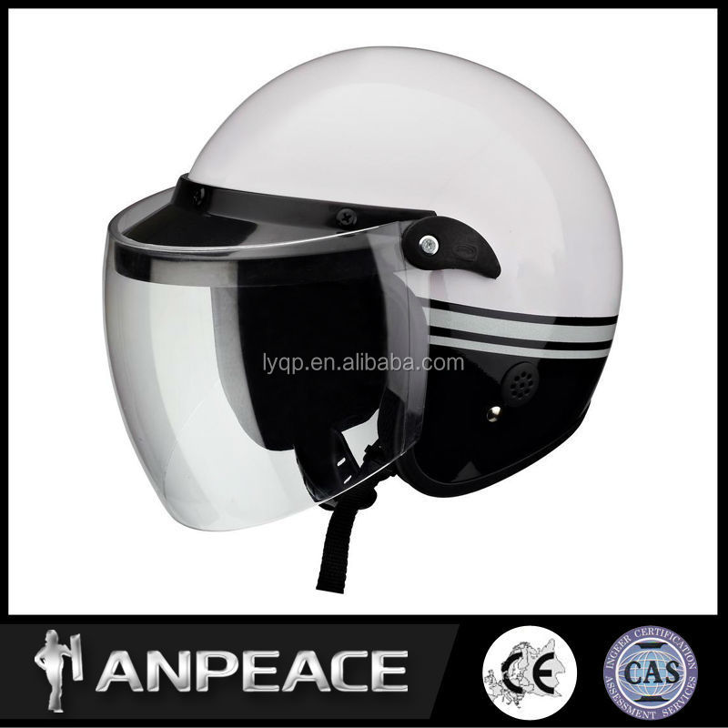 With full head protection vintage racing motorcycle helmets