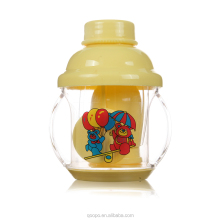 2015 Hot Selling Anti Slip Plastic Clear Ps Straw Baby Wate Feeding Bottle Set