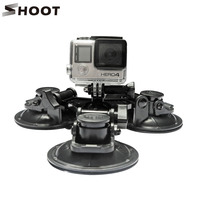 Low Angle Removable Suction Cup 6.5cm diameter with tripod mount screw for gopro hero session and SJcam XIAOYI camera