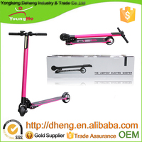 2016 hot sale 36V 2 wheels carbon fiber electric scooter skateboard/kick scooter with Lithium batteries