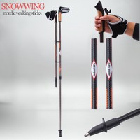 Snowwing new style crutches carbon light nordic walking stick walking staff