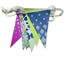 Cheap Triangle Colorful Plastic Customized Bunting Flag