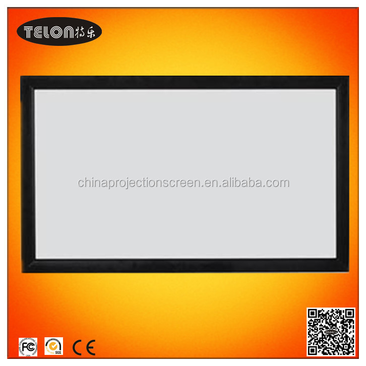 TELON Fixed frame projector screen/Frame screen/Curved projection screen with high quality