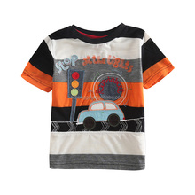 (C571) black/orange/white 2-6y nova brand baby boys applique t shirts kids summer cheap clothes wholesale