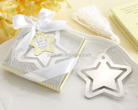 Hollow Pentagram Silver Metal Bookmark Party Favors